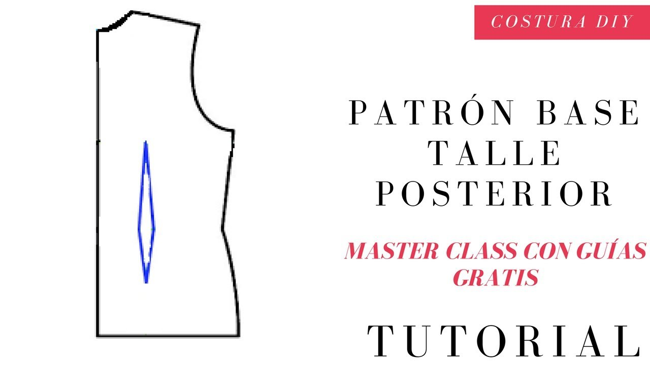 Cómo hacer patrón base Posterior / trasero clases de Patronaje ...