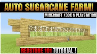 Minecraft Xbox 360 & PS3 :  FULLY AUTOMATIC SUGARCANE FARM! |  TU26 : REDSTONE TUTORIAL