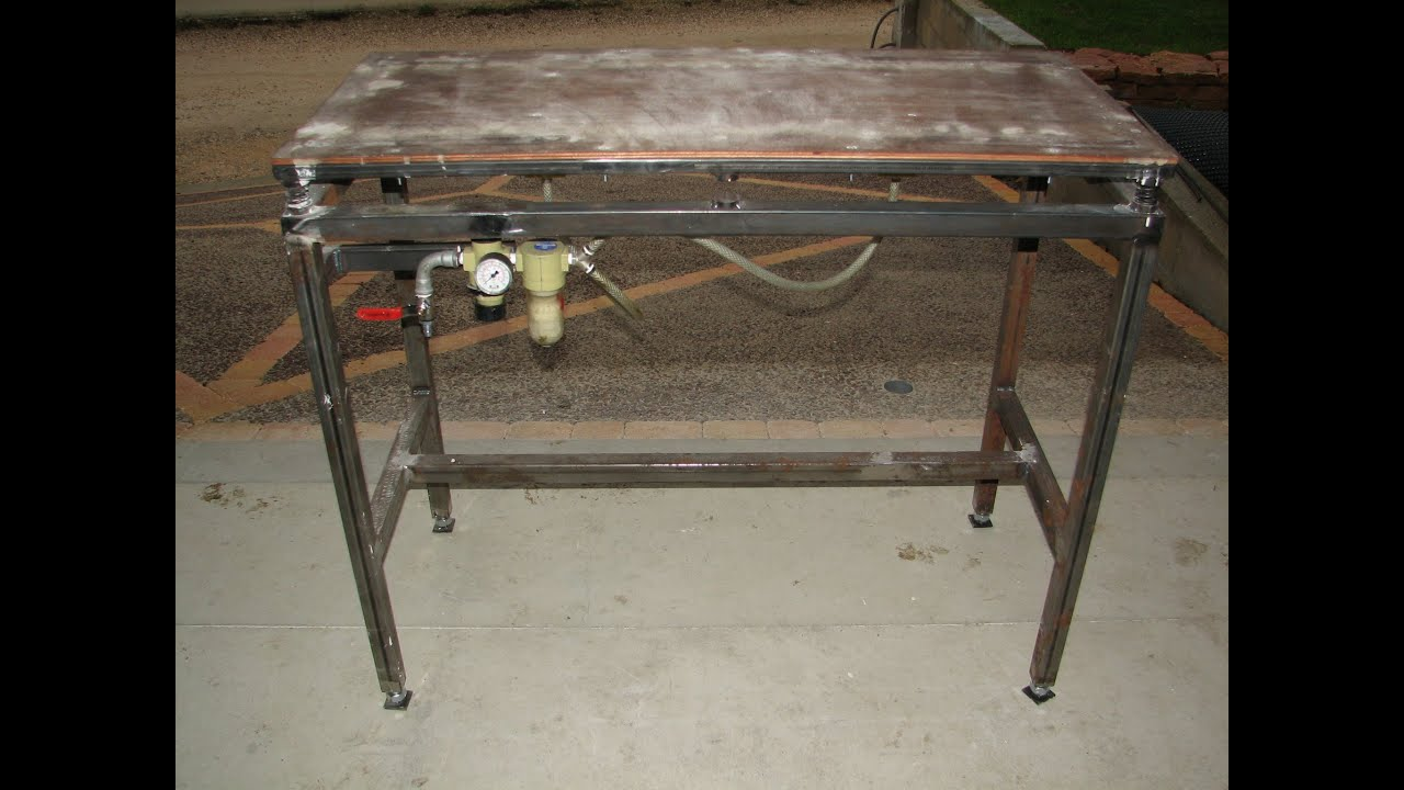 fabrication table vibrante et coulage couvertine youtube