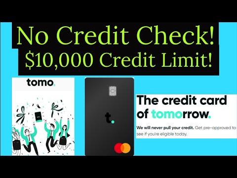 Major Game Changer! No Credit Check! $10,000 Credit Limit Credit Card - Tomo Master Card!