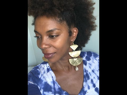 DIY/ How to make Large Brass and Cowrie Shell Dangle Earrings