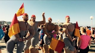Hilarious lifeguards at the City2Surf 2015 Bondi Beach