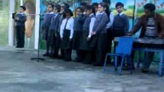 "Morning Assembly of ""The City School"" Sialkot."