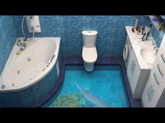 3d Folie Für Fußboden ~ Badezimmer boden d wohnideen design dekoration badezimmer spezial
