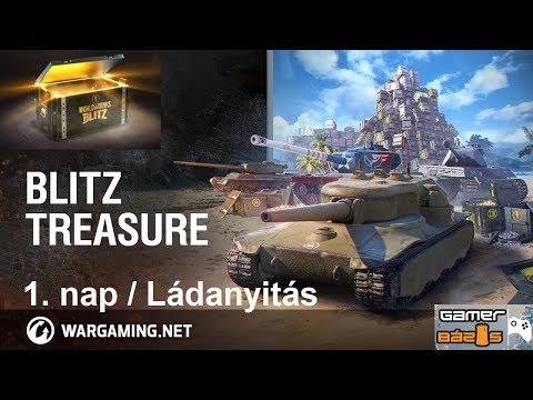 World of Tanks Blitz // TREASURE EVENT 1. nap összefoglaló / Ládanyitás