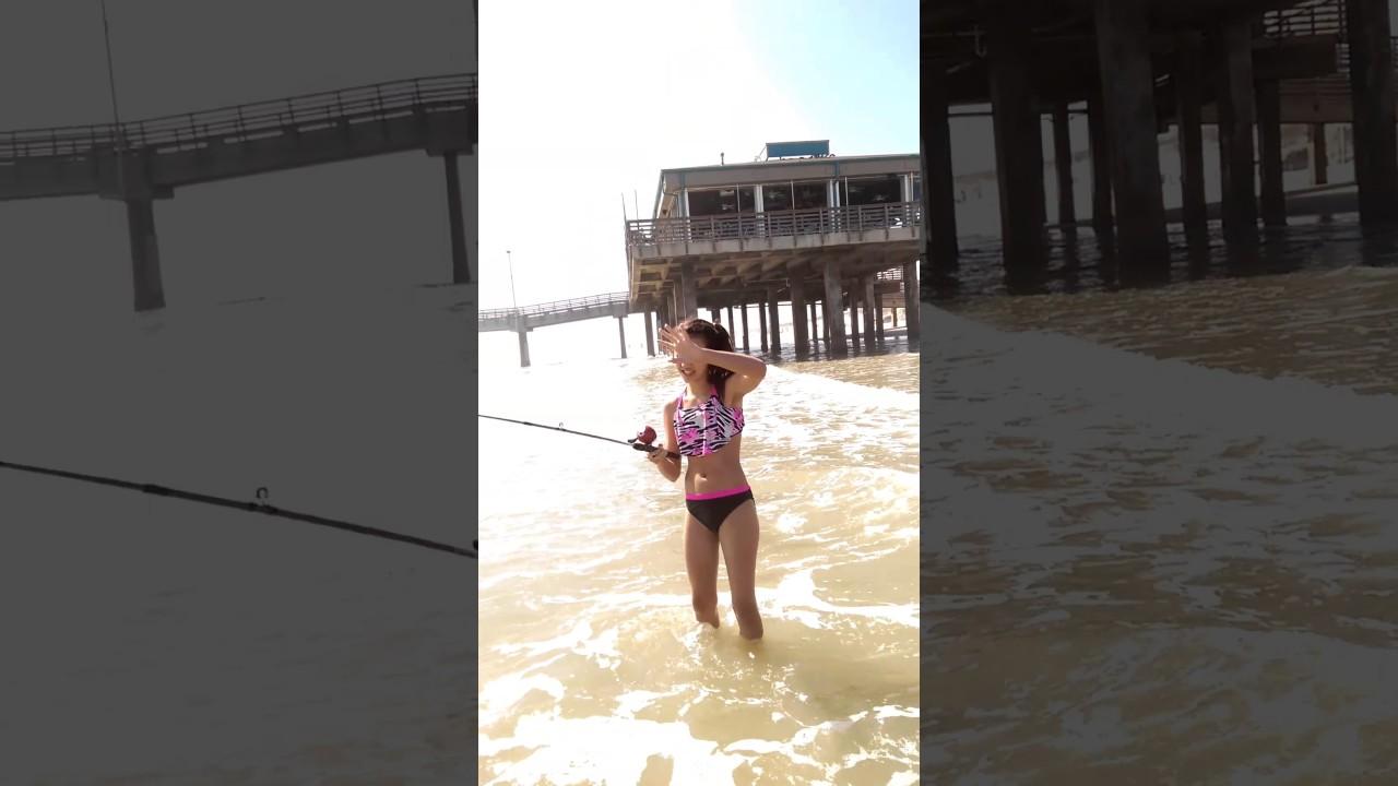 Lucia surf fishing at bob hall pier youtube for Fishing report corpus christi texas