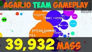 AGAR.IO RECORD BIGGEST CELL EVER : OVER 39,000 MASS! - TEAMING IN AGARIO #43 thumbnail