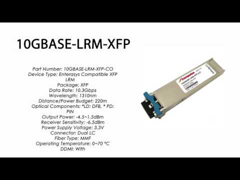 Enterasys 100% Compatible 10GBASE-SR-XFP-CO Network Transceivers ...