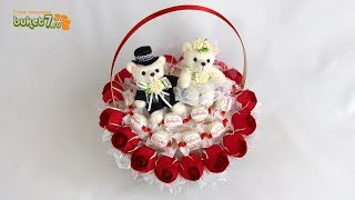 как сделать свадебный букет из конфет