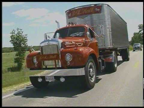Gmc Diesel Trucks >> 2 Stick B61 Mack with Fruehauf trailer - YouTube