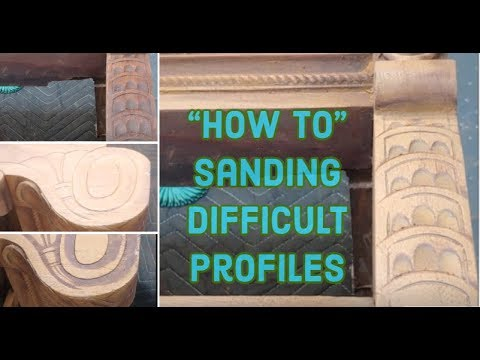 Sand spindles, grooves, carvings, moldings on wood furniture the easy way