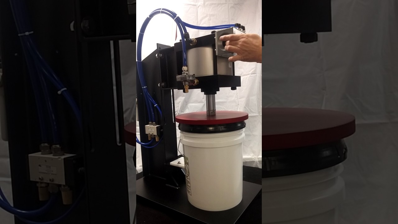 5 Gallon Table Top Lid Press Youtube