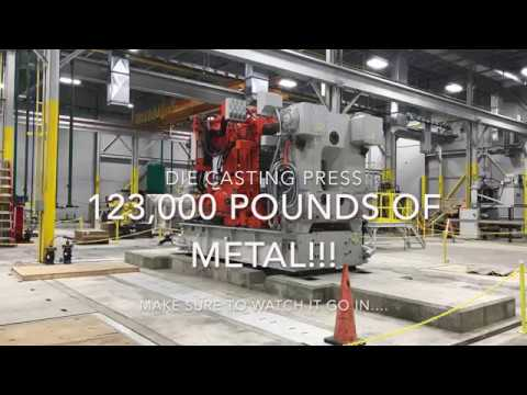 Heavy Metal!! Rigging And Moving A 123k Pound Die Casting Press....