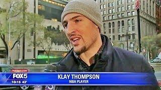 NBA《アメ本²話》ニューヨークで本人と気付かれずにインタビューを受けるクレイ・トンプソン (2017年11月)