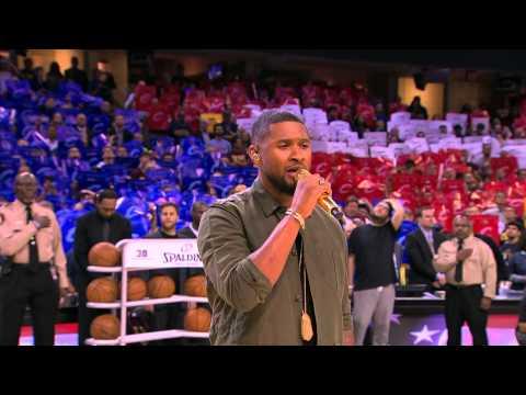 Usher Sings Star-Spangled Banner Before Game 4