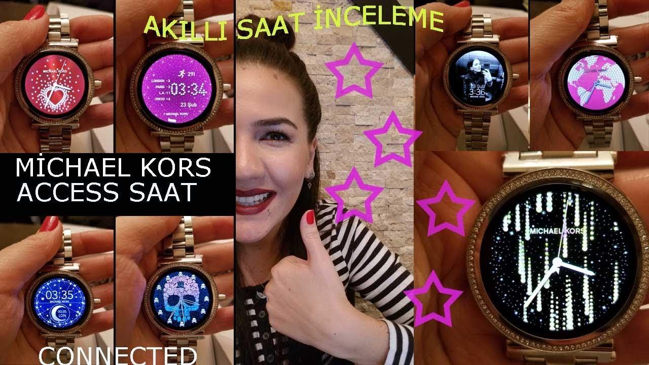 Michael Kors Access Akilli Saat Incelemesi Mk Sofie Connected Smartwatch Mkt5020 Youtube