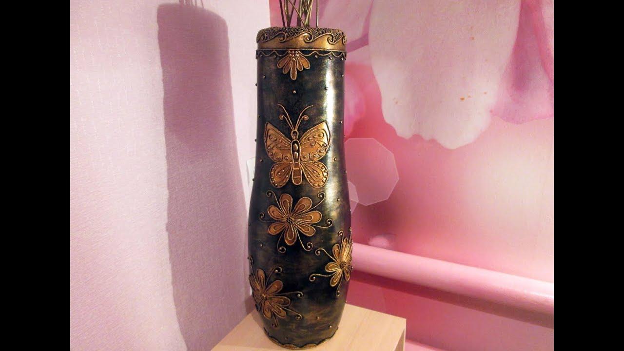 Ваза из картона своими руками. Cardboard vase with own hands - YouTube