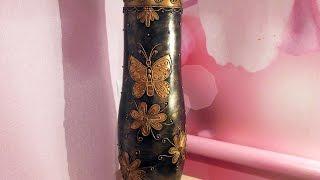 Напольная ваза своими руками. Декор вазы в технике Пейп-Арт