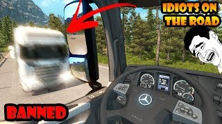 ★ IDIOTS on the road #34 - ETS2MP | Funny moments - Euro Truck Simulator 2 Multiplayer