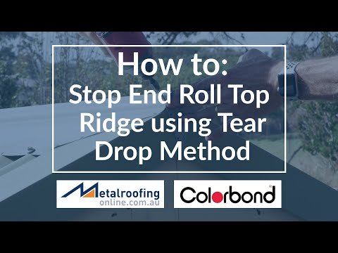 How to: finish off end of roll top ridge COLORBOND® | Metal Roofing Online