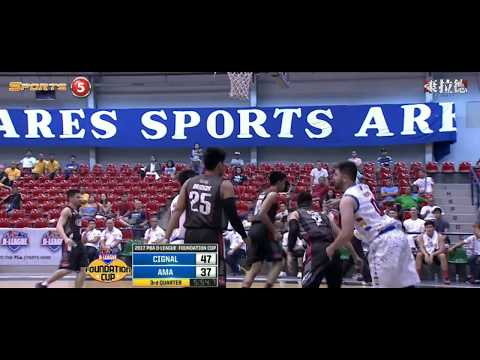 Andrei Paras (5 Points,10 Rebounds,5 Blocks and 3 Assists vs Cignal HD) (DEBUT)