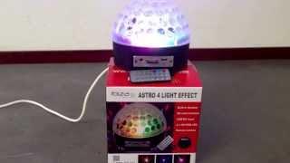 Ibiza Astro 4 led disco lichteffect met USB/SD MP3 speler met geluid via de ingebouwde luidspreker