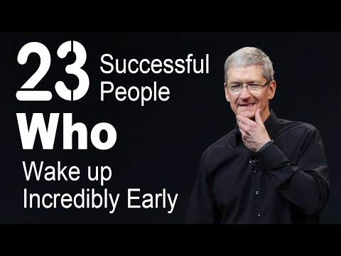 23 successful people who wake up incredibly early