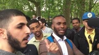 Ali Dawah debates Godwin - Speakers Corner