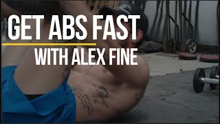 Get Shredded Abs FAST  No Equipment  With Alex Fine