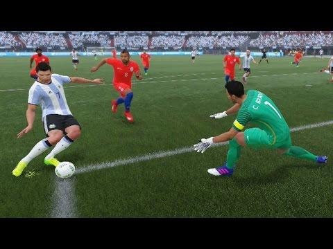 Argentina vs Chile (Copa Mundial Rusia 2018 de FIFA, Eliminatorias) | FIFA 17 Simulacion