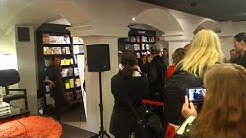 Bruce Dickinson signing session at Suomalainen kirjakauppa, Helsinki, Finland, 4.12.2017