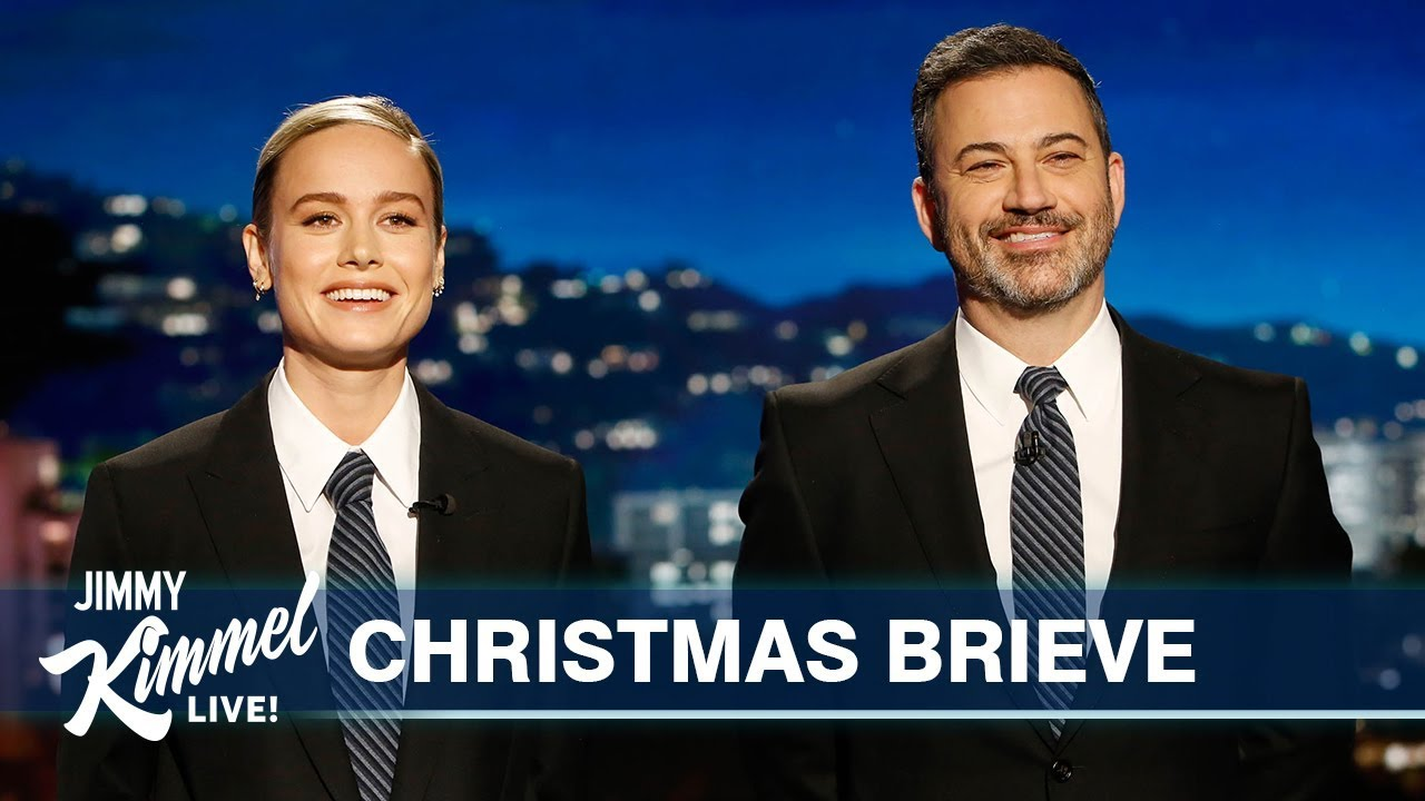 Brie Larson interrupts Jimmy Kimmel's monologue in the best way
