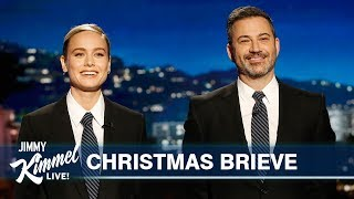 Brie Larson Studies Jimmy Kimmel for Guest Hosting Duties