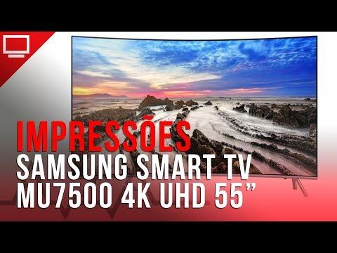 Samsung Smart TV 4K UHD MU 7500 de tela Curva - veja nossas impressões