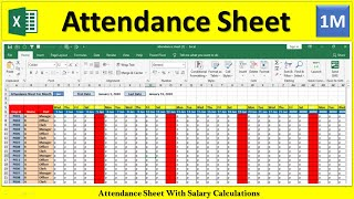 How to Maintain Attendance Sheet in MS excel in Hindi | How to Make Attendance Sheet In Excel