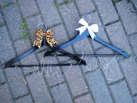 How to Make Customized Wire Hangers for Weddings & Prom