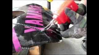 Fix Cracked Motorcyle Fairing - How To Weld Plastic with a Soldering Iron
