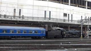 2011.2.23 C61 20 試運転 24系牽引 入庫の様子3