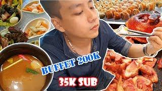 Đi ăn Buffet ngập mặt 200k mừng 35000 người đăng ký - Khoa Pug
