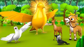 Download lagu The Golden Pigeon Hindi Story | सोने का कबूतर हिन्दी कहानी - 3D Kids Moral Stories Fairy Tales