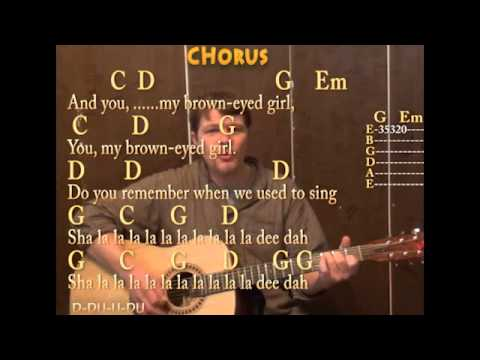 Brown Eyed Girl (Van Morrison) Strum Guitar Cover Lesson with Chords ...