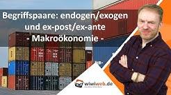 Begriffspaare: endogen/exogen und ex-post/ex-ante - Makroökonomie
