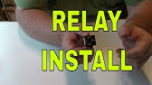 How to wire a 30/40 Amp relay - YouTube Harness Relay Wiring Yh on