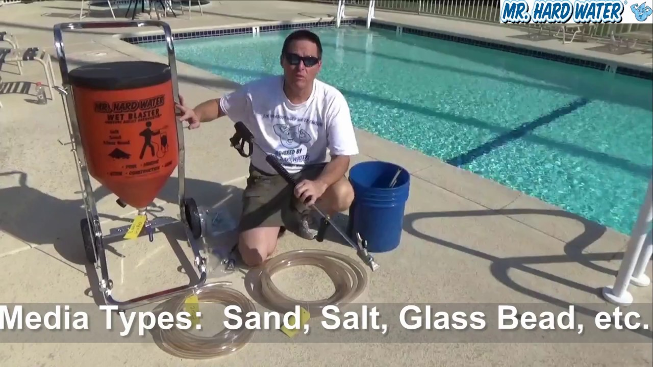Hopper System Wet Blaster For Pool Tile