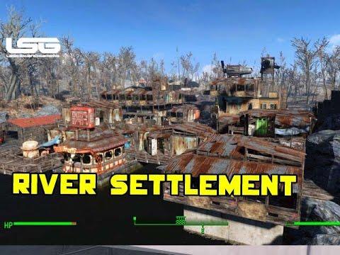 Fallout 4 - Epic Riverside Settlement (Tour)