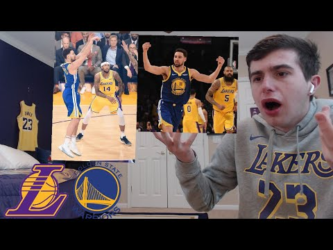 c4e3500f4ea warriors vs lakers reaction. klay drops 44.. LAKERS FAN RANT.. THIS DOESNT  COUNT