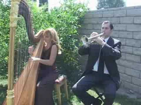 Mendelssohn Wedding March Harp Trumpet Katrina Michael