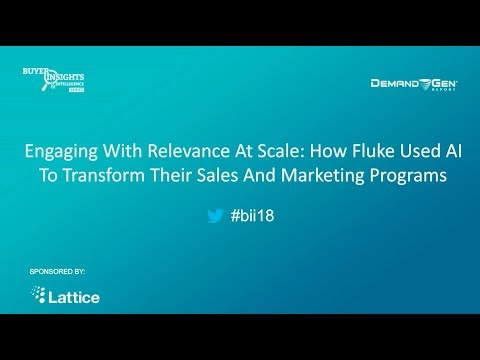 Fluke Success Story: Engaging With Relevance At Scale