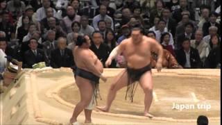白鵬 vs 豊ノ島の取組。 2016大相撲春場所6日目。