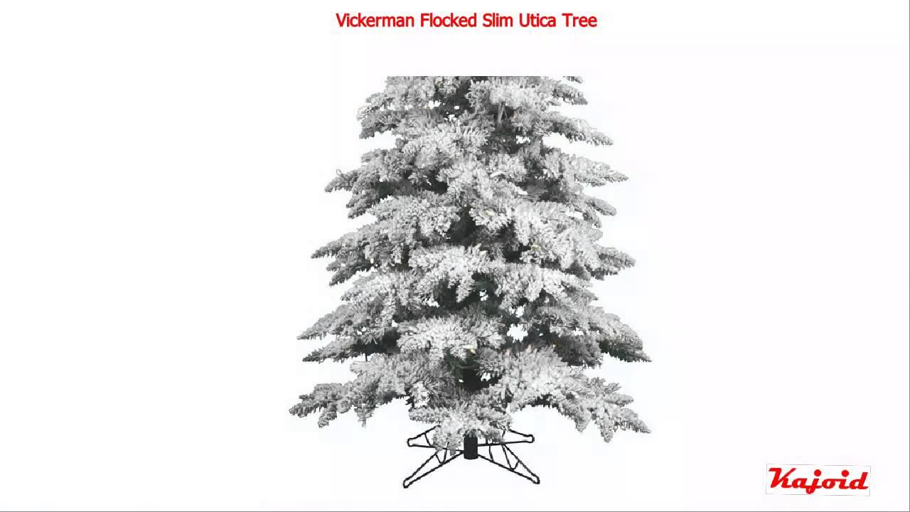 Vickerman Flocked Slim Utica Tree, 7,5 Feet